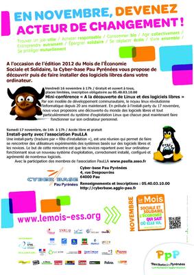 Affiche install-party du 17 novembre 2012