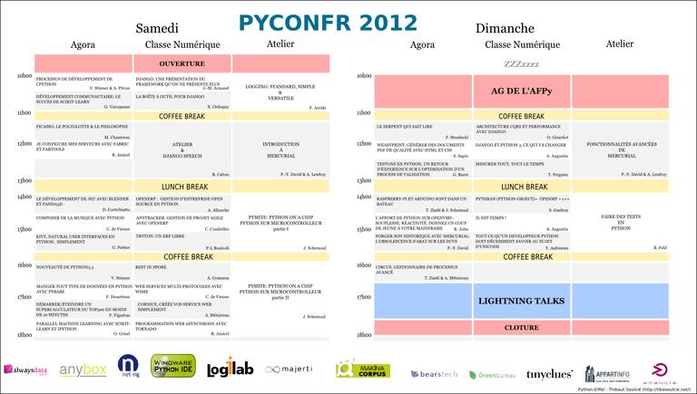 programme PyCon-fr 2012