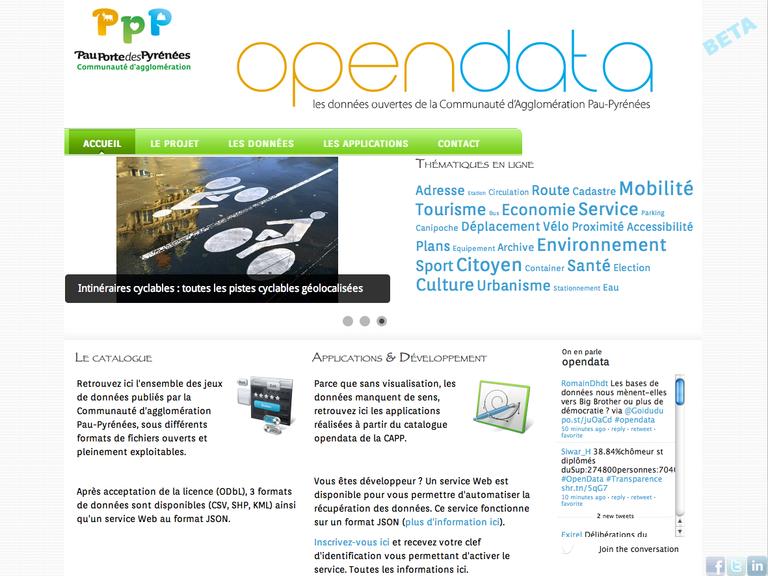 OpenData Communauté Agglomération Pau-Pyrénées
