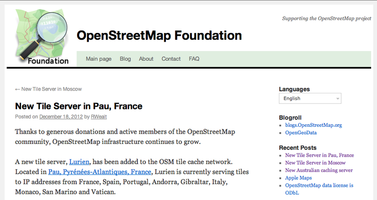 Paulla Tile server OSM Fundation