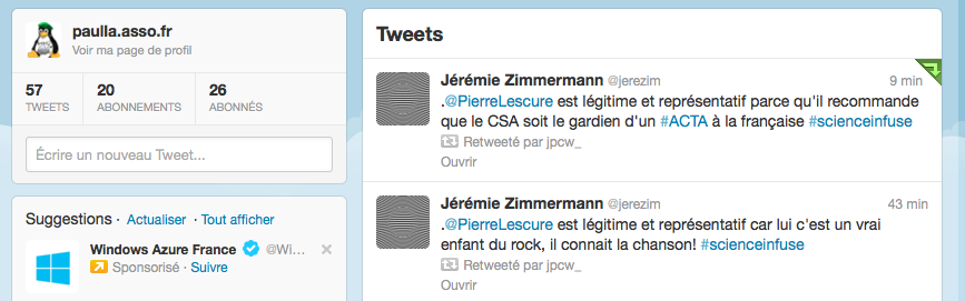 Suggestion de twitter, euh non merci ! ;)